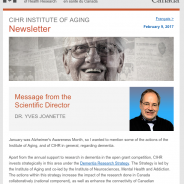 CIHR Institute of Aging February Newsletter